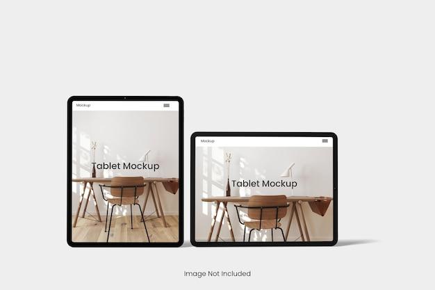 分離されたタブレット モックアップ デザイン