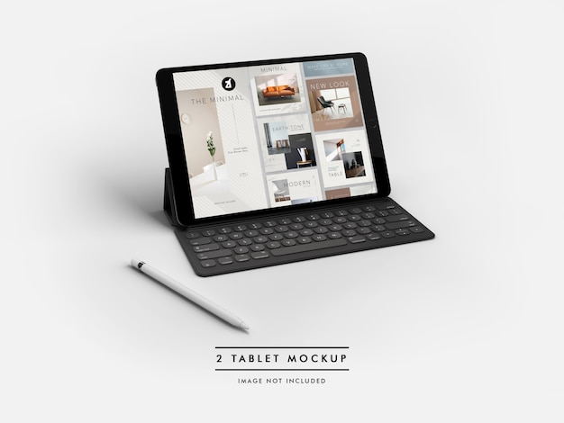 Tablet mockup and scene generator