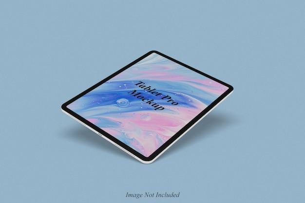 Tablet pro mockup design isolated