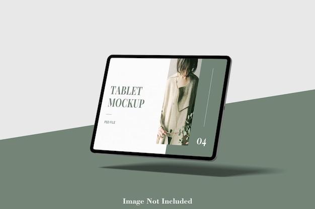 タブレット画面モックアッププレミアムpsd