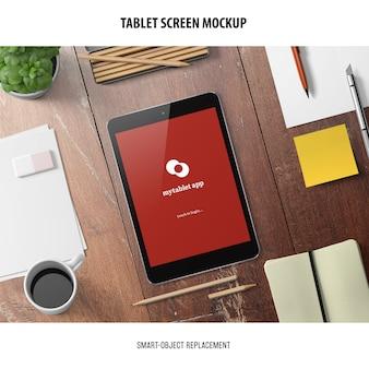 Макет экрана планшета
