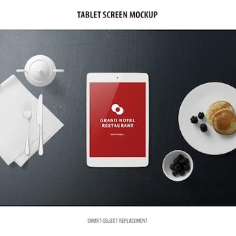 Mockup dello schermo del tablet