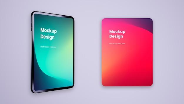 Tablet e schermo - ui ux mockup