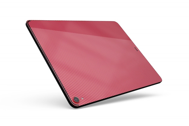 Tablet skin mock-up isolated