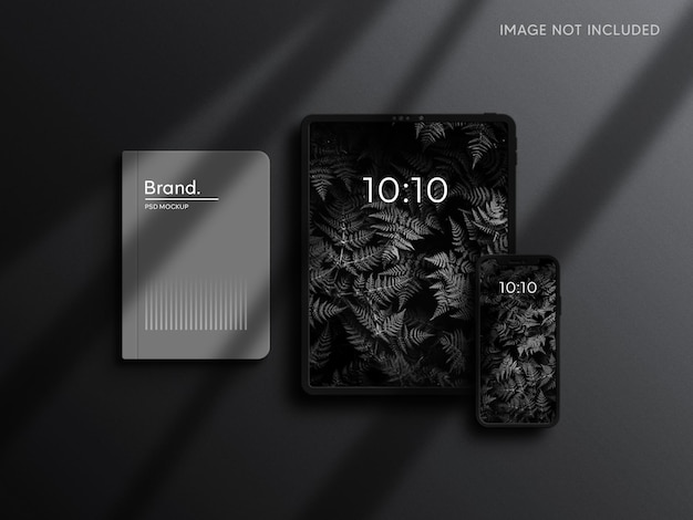 Tablet and smartphone mockup with brand identity