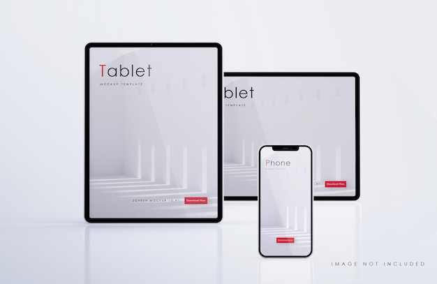 Tablet and smartphone mockup
