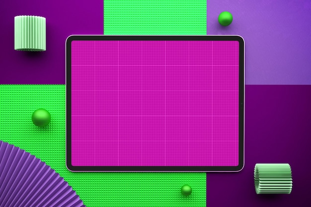 Tablet top view