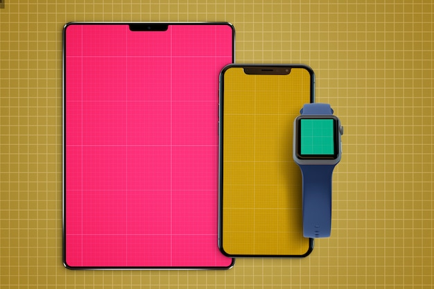 Tablet & watch mockup