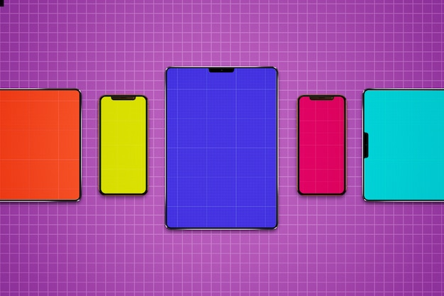 Tablets and mobiles mockup