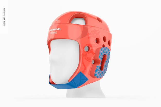 テコンドーヘルメットモックアップ、右側面図