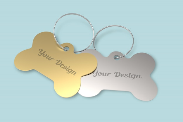 Tag for pet mockup
