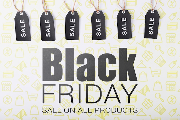 Tags for black friday sales campaign