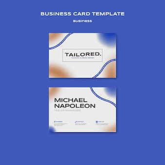 Tailored business card template