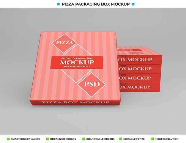 Взять макет упаковки картонной коробки для пиццы