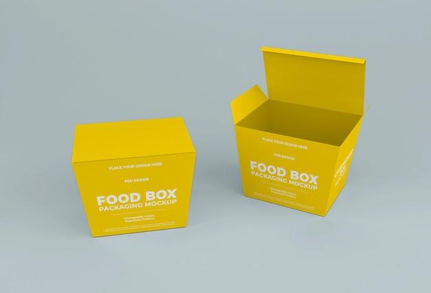 Take away chinese food box mockup design