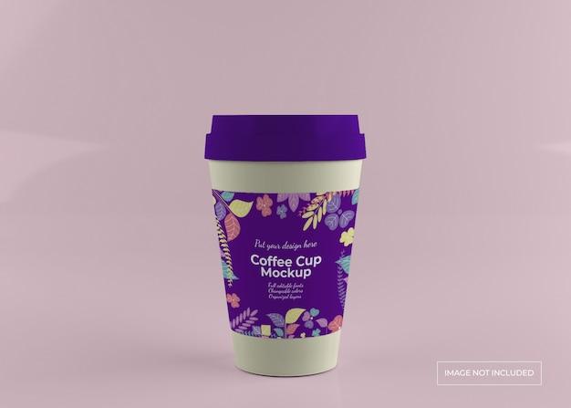 コーヒーカップのモックアップを奪う
