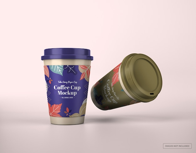 Уберите макет кофейной чашки
