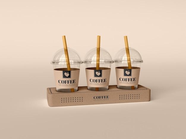 테이크 아웃 커피 컵 모형