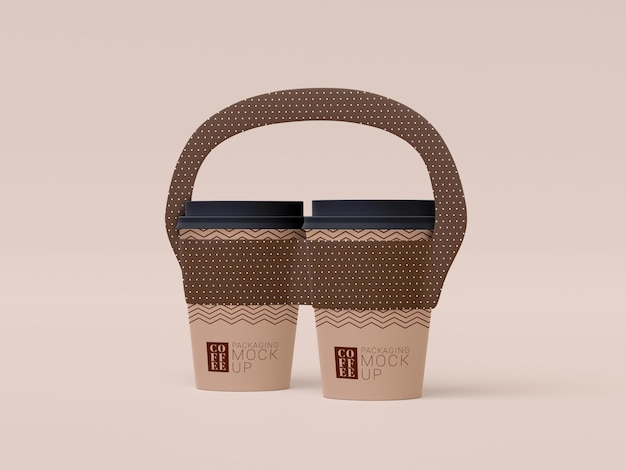 Take away disposable coffee cup mockup