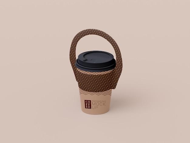 일회용 커피 컵 모형 제거