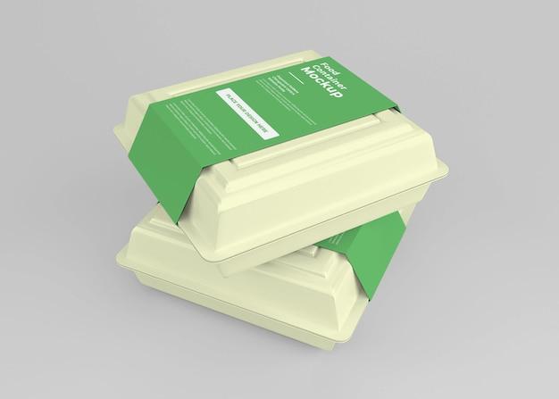 Take away food box mockup design