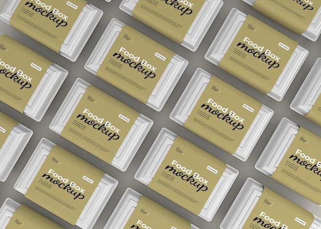 패스트 푸드 포장을위한 식품 상자 모형 제거