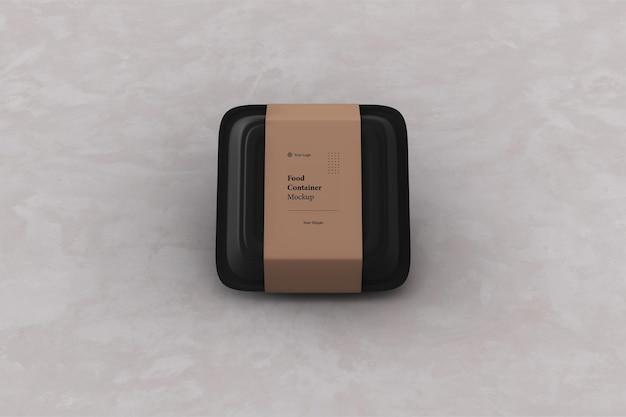 Уберите макет упаковки контейнера для пищевых продуктов