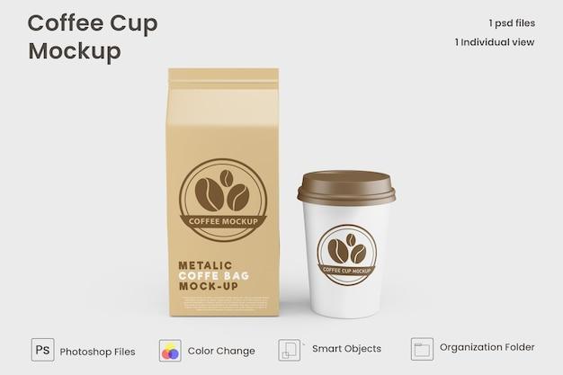 紙のコーヒーカップのモックアッププレミアムpsdを奪う