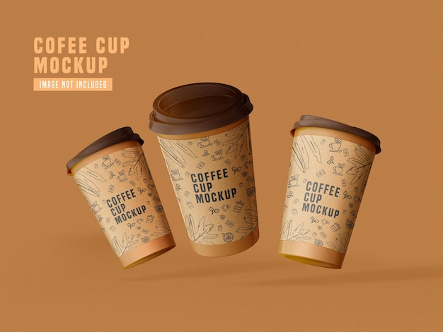 Take away paper coffee cup mockup psd