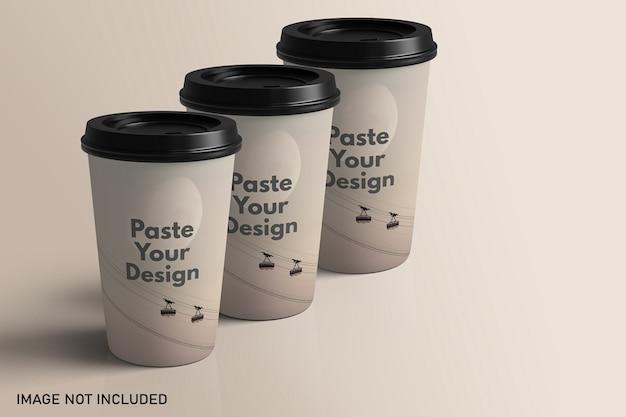 Уберите макет бумажной чашки кофе