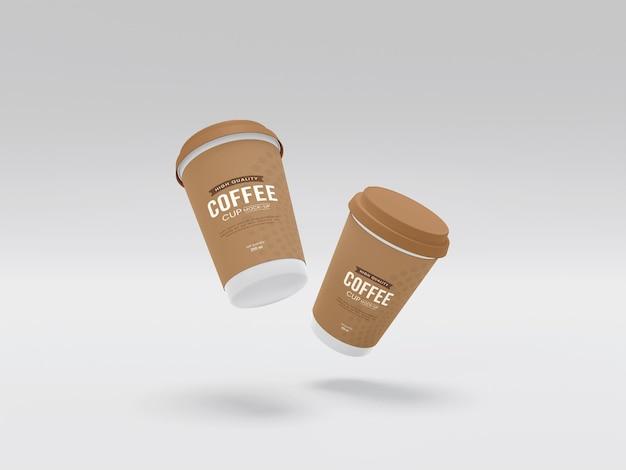 Мокап бумажной кофейной чашки take away