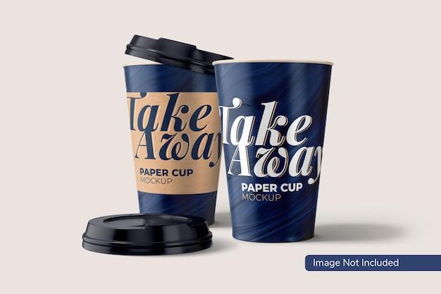 Мокап бумажного стаканчика take away