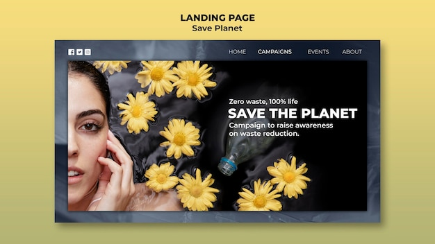Take care of the earth landing page