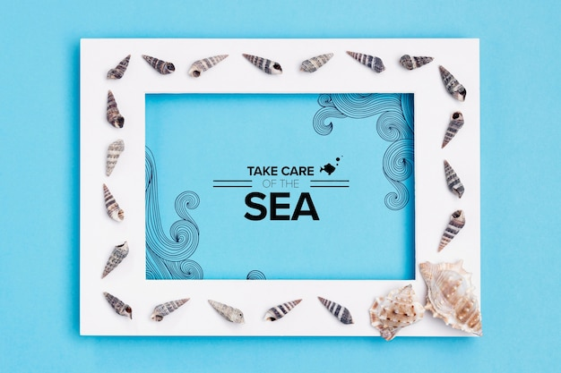 Take care of the ocean with frame