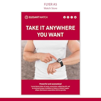 Take it anywhere watch store poster template