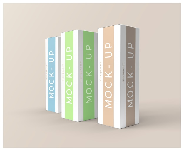 Tall box package mock-up
