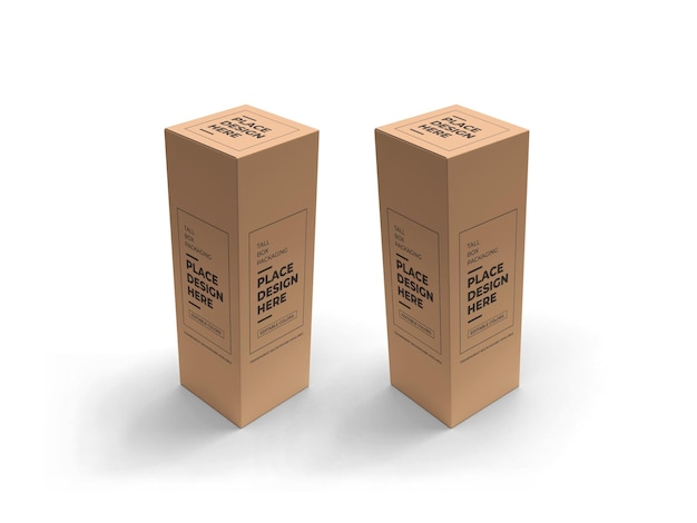 Tall box packaging mockup design