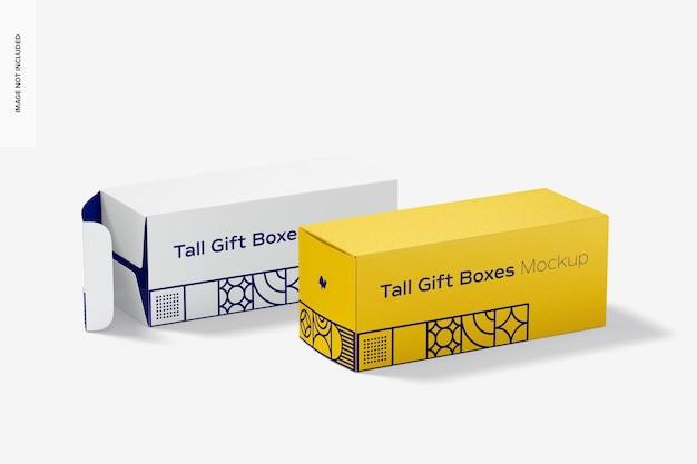 Мокап высокой подарочной коробки
