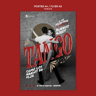 Tango event flyer print template