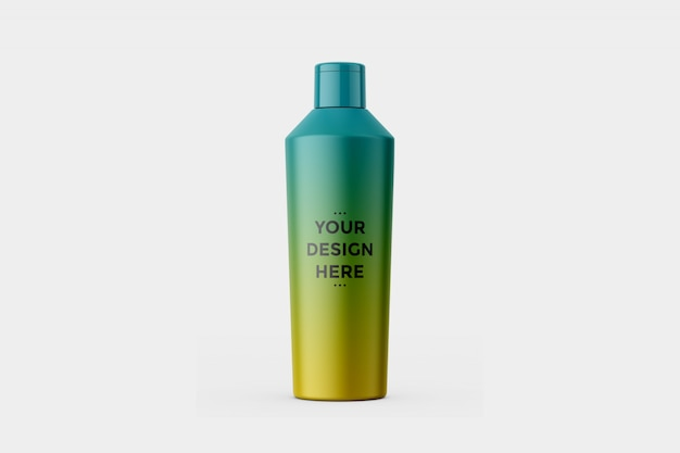 Tapering bottle mockup