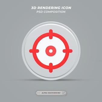 Значок целевой точки в 3d-рендеринге Premium Psd