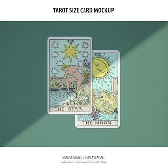 Tarot card mockup