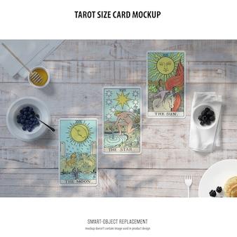 Mockup di carte dei tarocchi