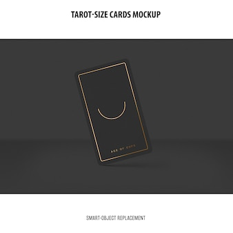 Tarot card with foil stamping mockup