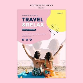 Tarvel and relax flyer template