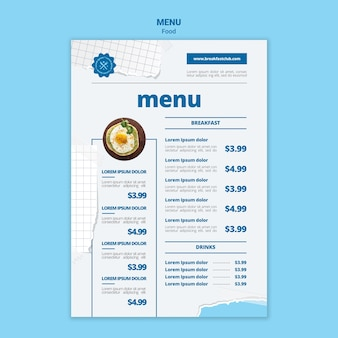 Tastiest breakfast menu template