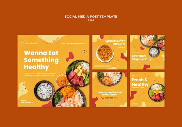 Tasty healthy food social media post