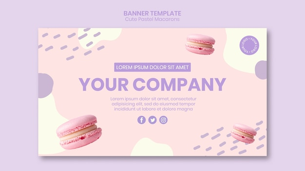 Tasty macarons banner template
