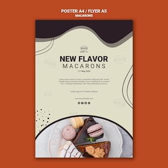 Tasty macarons poster design