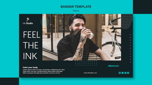 Tattoo model banner template